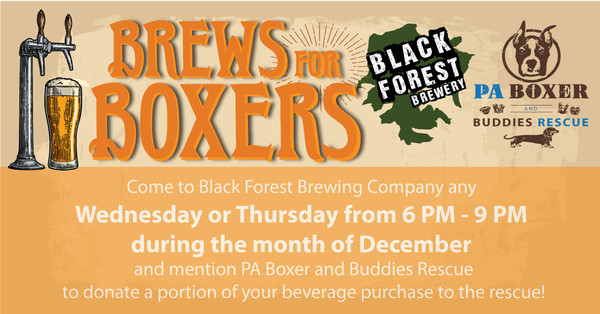 Brews for Boxers @  Black Forest Brewery
